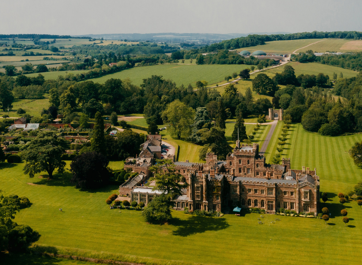 Hampton Court Castle from the Air