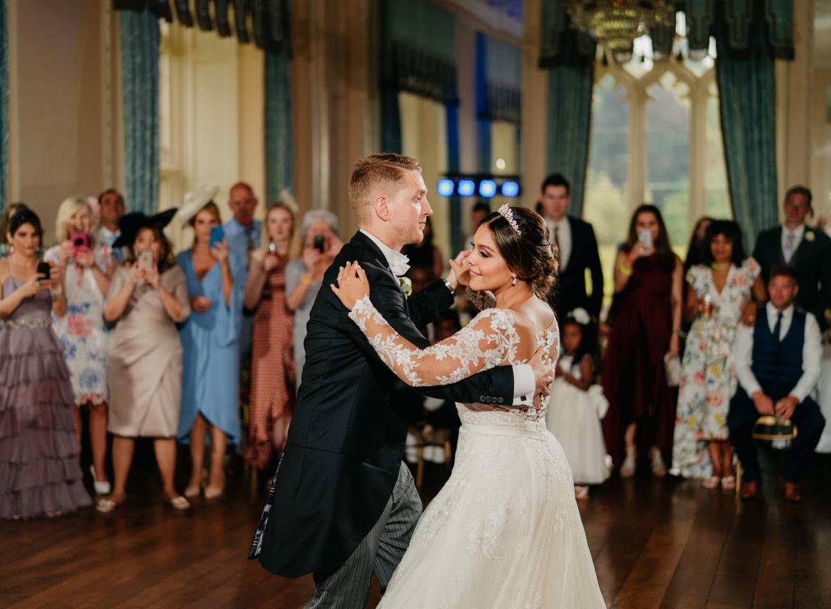 Dancing in Hampton Court Castle Ballroom