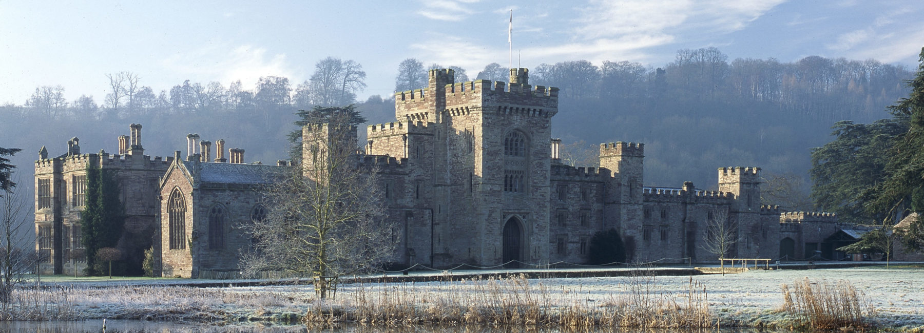 Hampton Court Castle on a frosty morning by John Perry