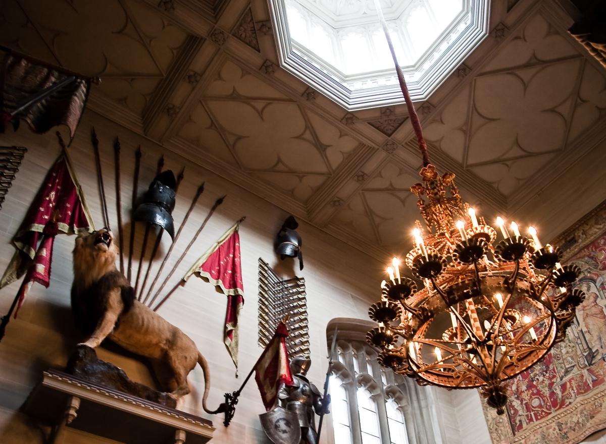 Interior of Hampton Court Castle